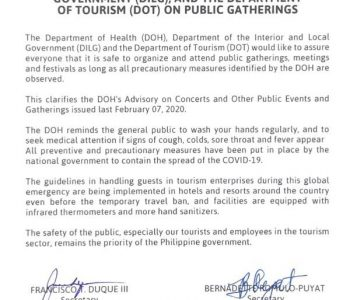 Joint Statement on Public Gatherings!